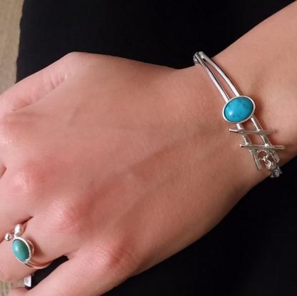 Bracelet-hashtag-turquoise-avec-bague