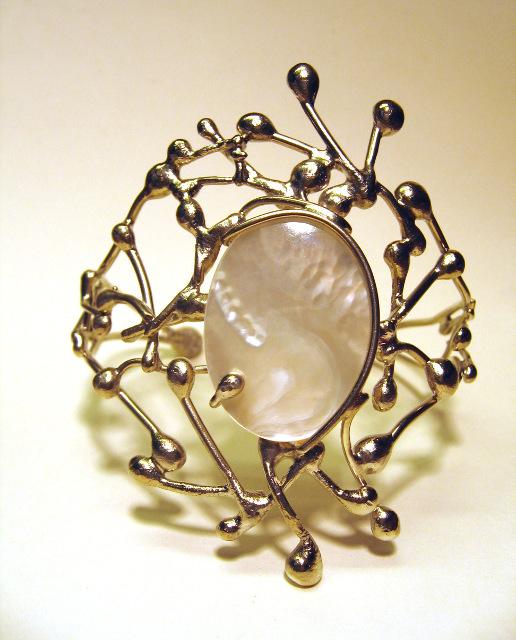 Bracelet Féline - Argent et Nacre - Nathie Iuso Création
