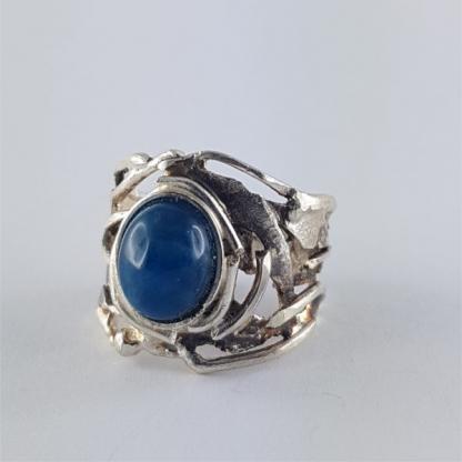 bague dothraki apatite bleue et argent