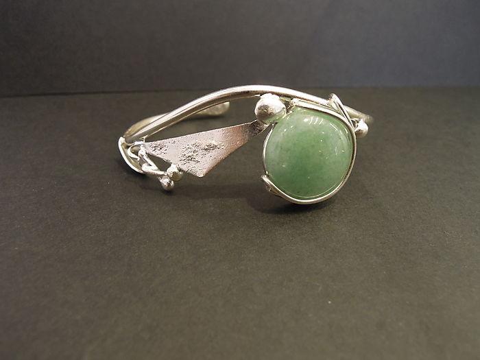 Bracelet Délima - aventurine et argent