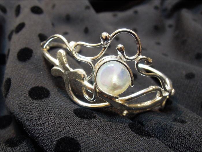 Bracelet Leilany - nacre et argent