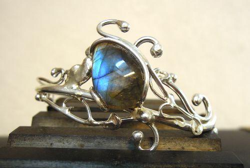 Bracelet Orus - Labradorite et argent - Nathalie Iuso création