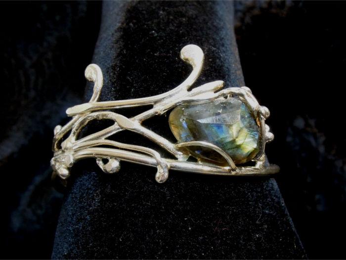 Bracelet Philias - Labradorite facettée sur argent