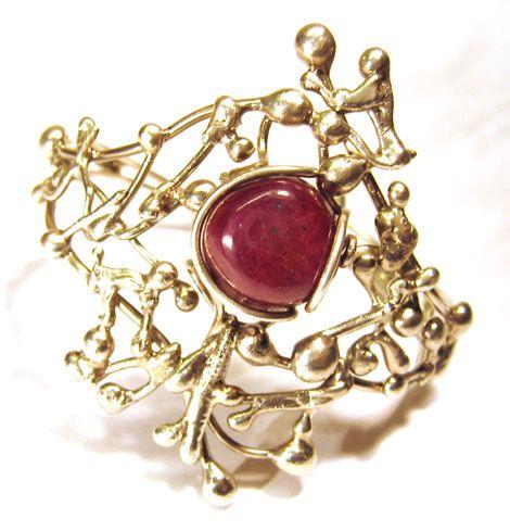 Bracelet Ruby - Racine de rubis et argent