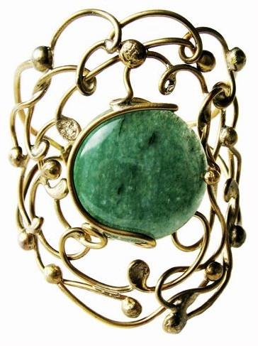 Bracelet Soly - Aventurine et laiton