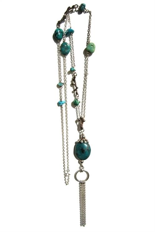 Collier Fancy - Turquoise et argent