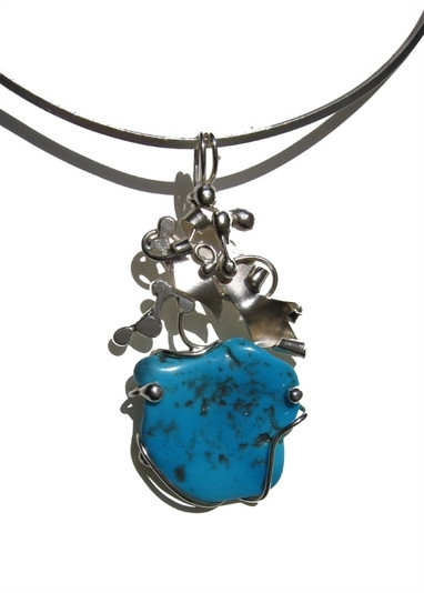 Collier Mintaka - Turquoise sur argent