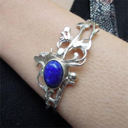 Bracelet Ériu - Lapis-lazuli serti sur argent 925/1000