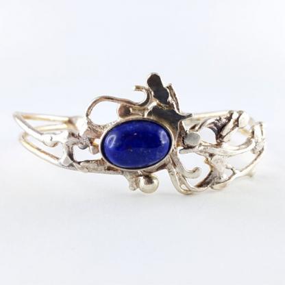 Bracelet Ériu - Lapis-lazuli serti sur argent massif