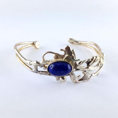 Bracelet Ériu - Lapis-lazuli serti sur argent