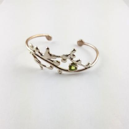 Bracelet péridot et argent - Nagade