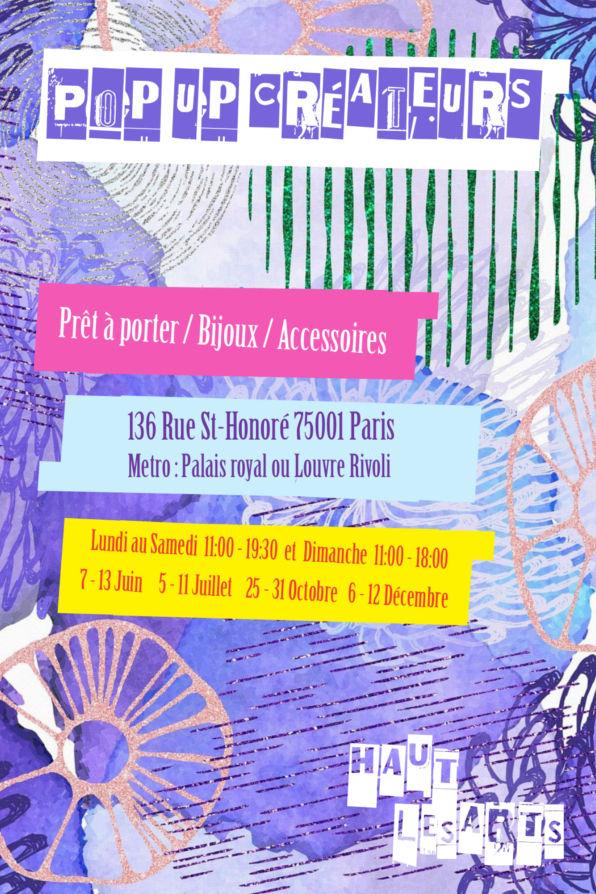 Exposition Pop-up Store Créateurs 2021 Paris