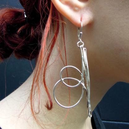 Boucles d'oreilles créateur argent Spiraline
