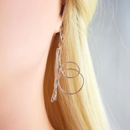 Boucle d'oreille Spiraline en argent massif